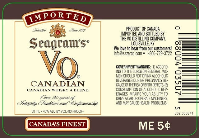 Seagram's VO Canadian The Glenmore Distillery