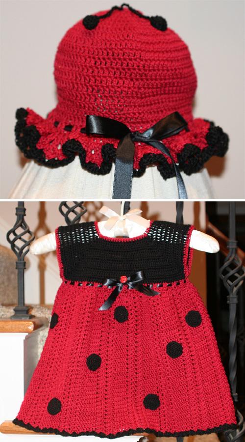 Lady bug Dress & Hat - Free Pattern