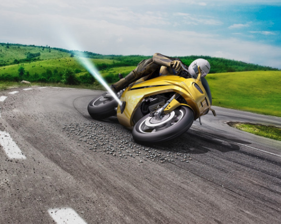 Bosch Air Jets To Prevent Motorcycle Crash