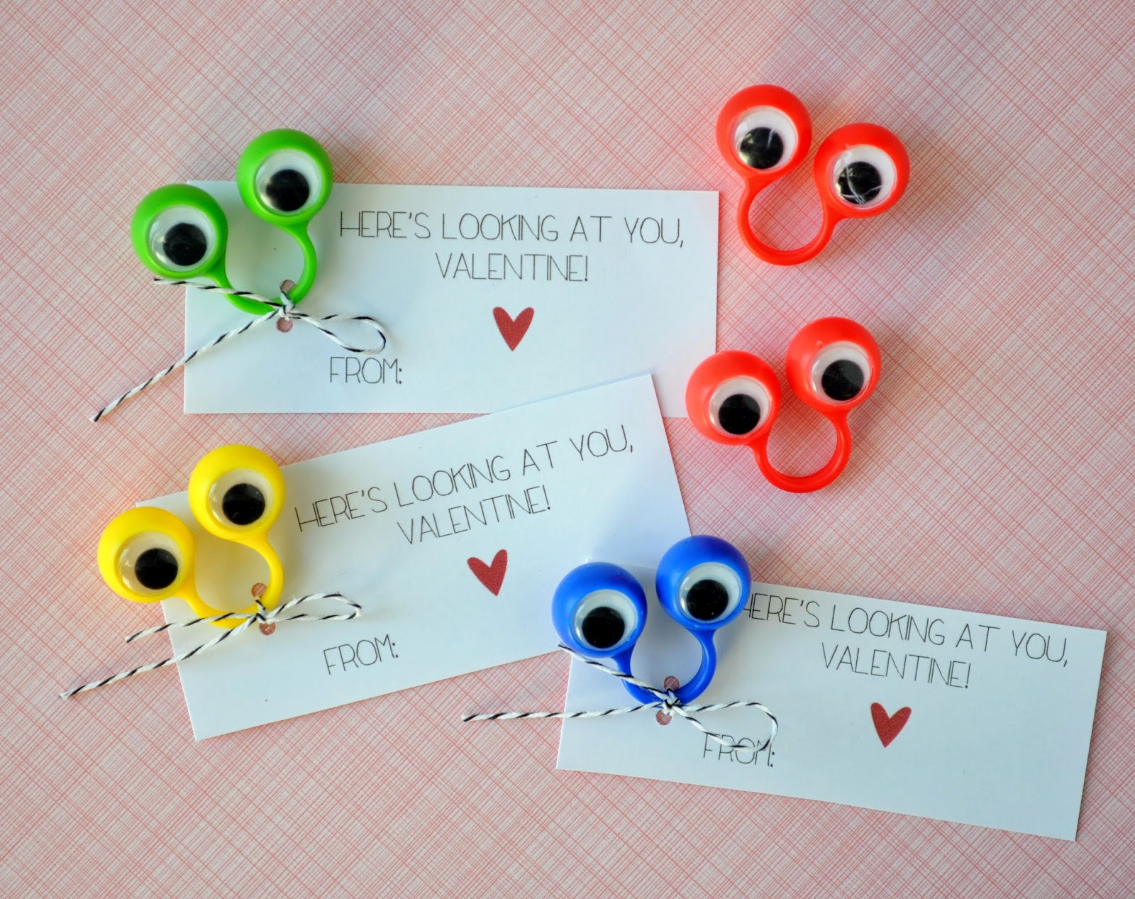 here's looking at you valentine! {free printable}