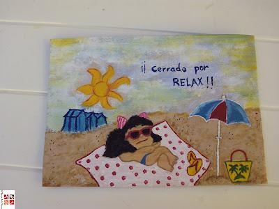 cartel pintado a mano