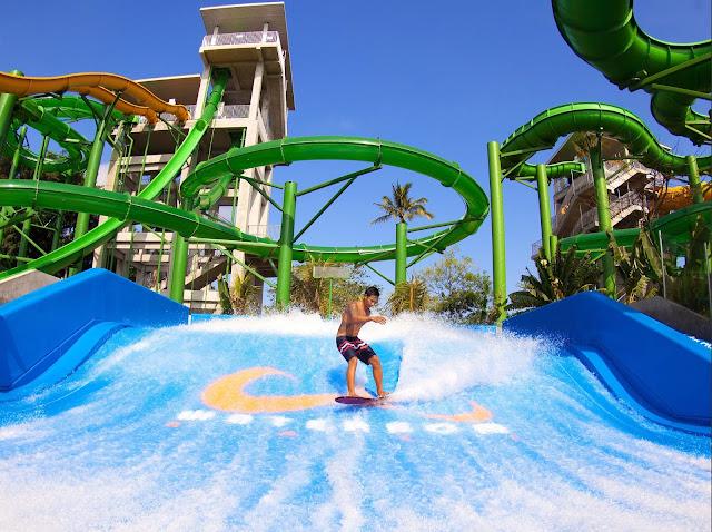 Create huge splash in water park n. ° 1 in Asia, Waterbom Bali