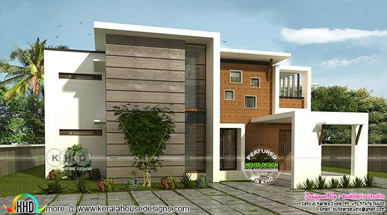 rendering of contemporary style box model house