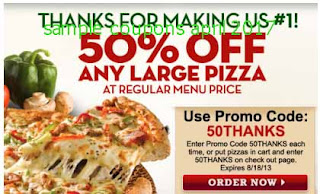 free Papa Joes Pizza coupons april 2017