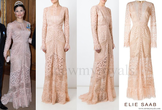 Princess Victoria wore ELIE SAAB Melrose lace dress