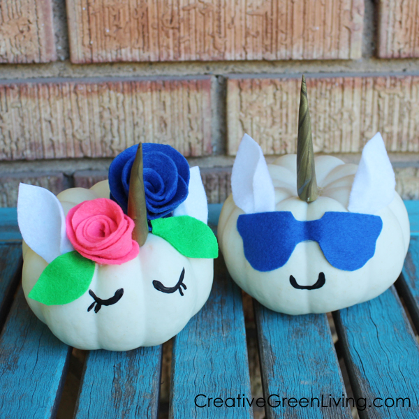 Best Halloween unicorn crafts - how to make a DIY unicorn pumpkin without carving