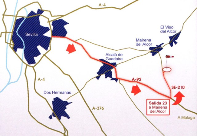 Mapa de Aerohispalis