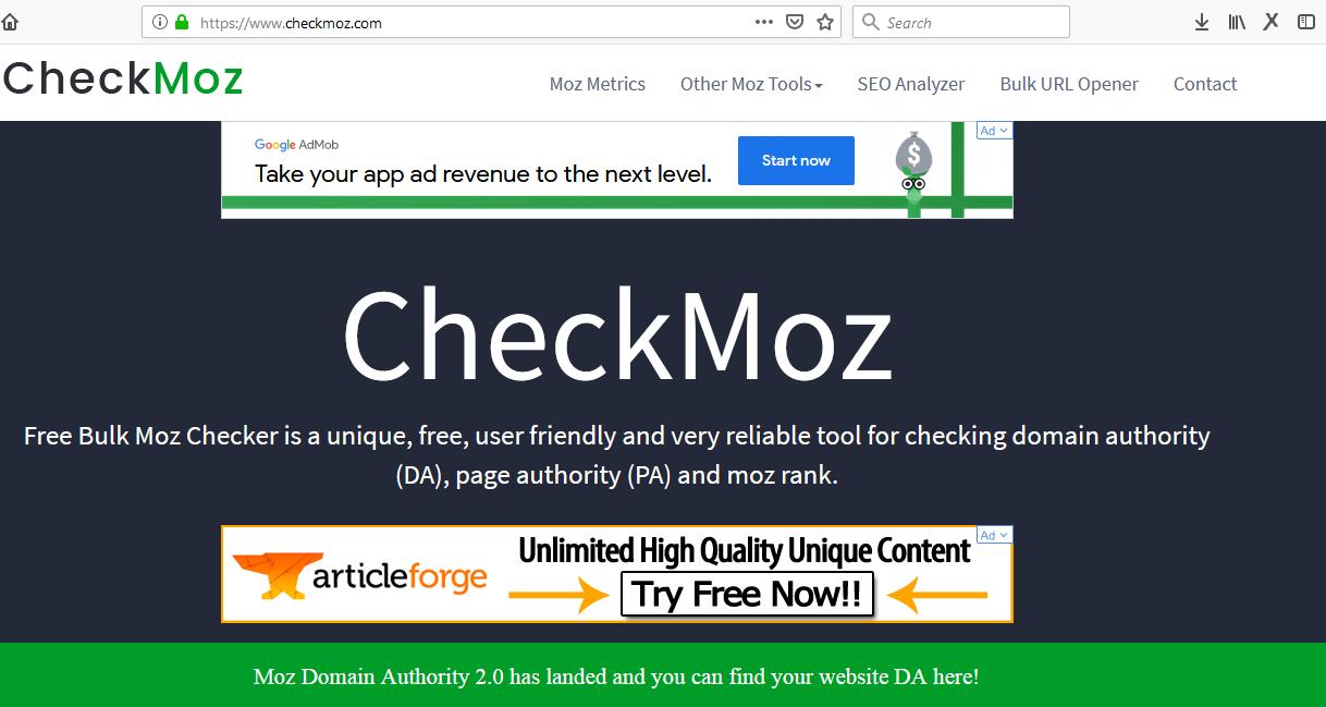 Cara Gampang Mengetahui Da Dan Pa Blog Sendiri Dengan Checkmoz