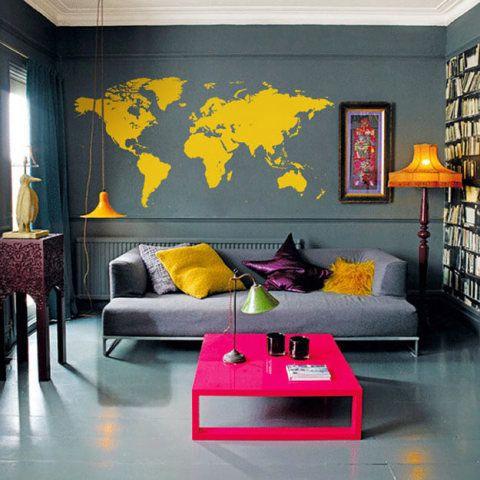 Decoração: Mapa Mundi