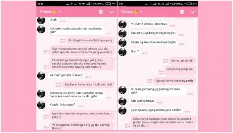 Percakapan yang diduga dilakukan oleh Daus Mini dan Ajeng Kristiani