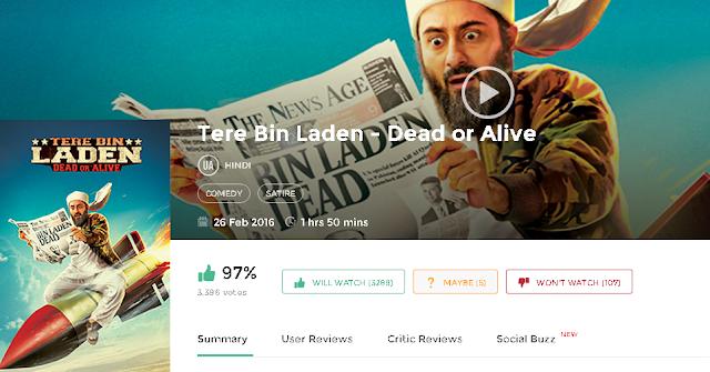Tere Bin Laden Dead or Alive 2016 Hindi Full Movie in Free 720p avi mp4 3gp HD