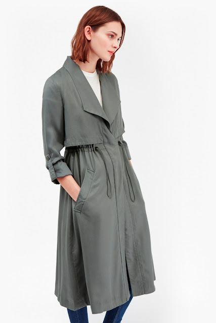 french connection grey trench coat, grey oversized trench coat,