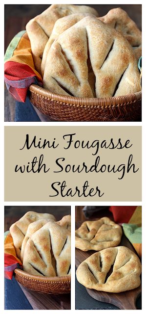 These Mini Fougasse with sourdough starter from Karen's Kitchen Stories are so flavorful, and are perfect with dips, tapas, and sauces.