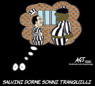 diciotti, salvini, processo, giunta per l'autorizzazione a procedere, immigrati, vignetta, satira