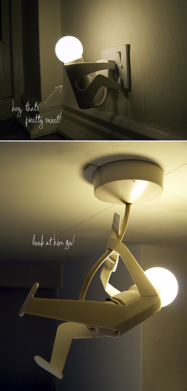 Creative interior Bulb shapes | Human shape Interesting night lamp designs