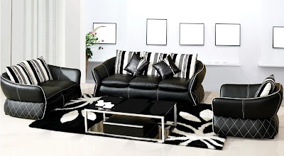Black Leather Sofas for Stylish Home Design Ideas