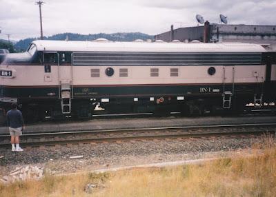 Burlington Northern F9-2 BN-1 in Kelso, Washington