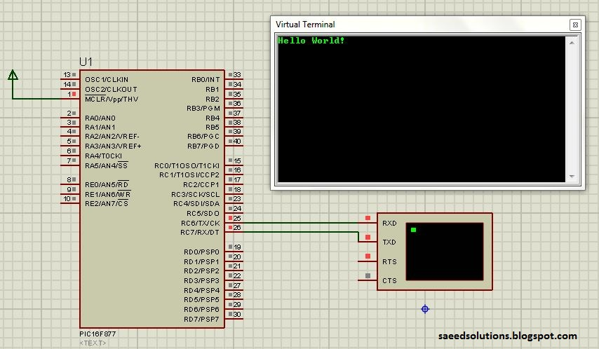 Interfacing with UART of PIC microcontroller - ElectronicBeans
