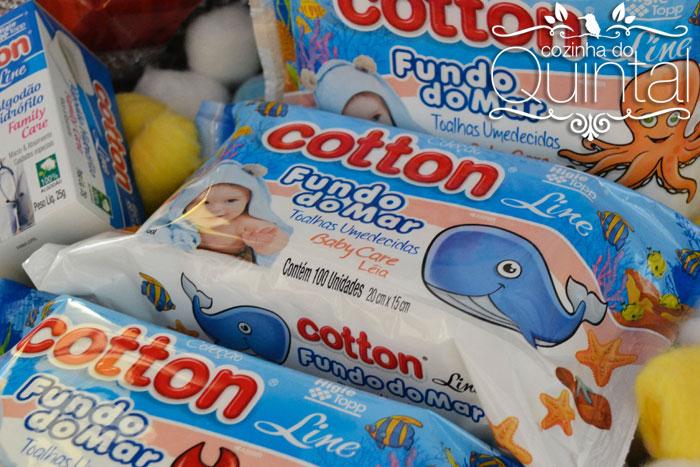 Toalhas Umedecidas Cotton Line Coleção Fundo do Mar