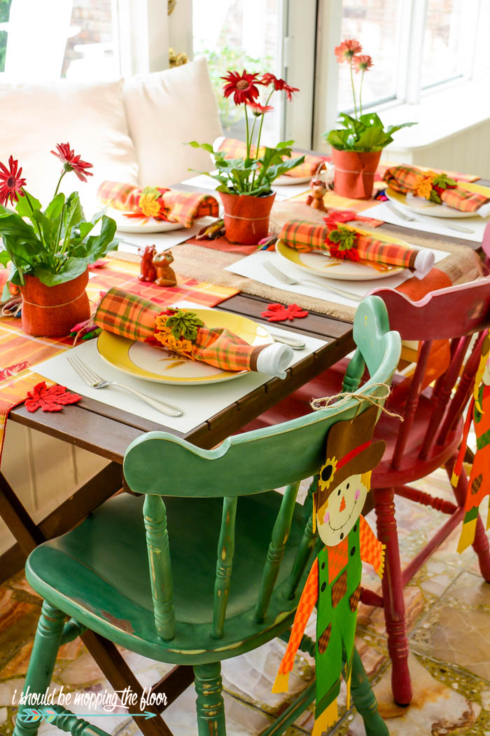 This Budget-Friendly Kids' Thanksgiving Table has so many fun components to occupy the littles on the big day.