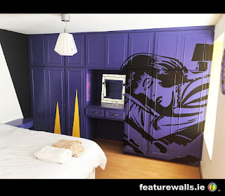 featurewalls contemporary hand painted airbnb murals for private homes by professional mural artists