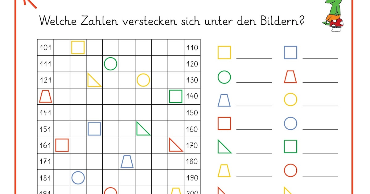 arbeitsblatt vorschule 187 hundertertafel grundschule