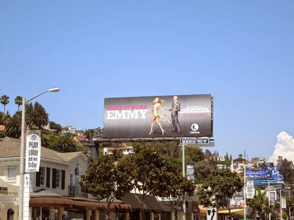 Project Runway season 13 Emmy billboard Sunset Strip