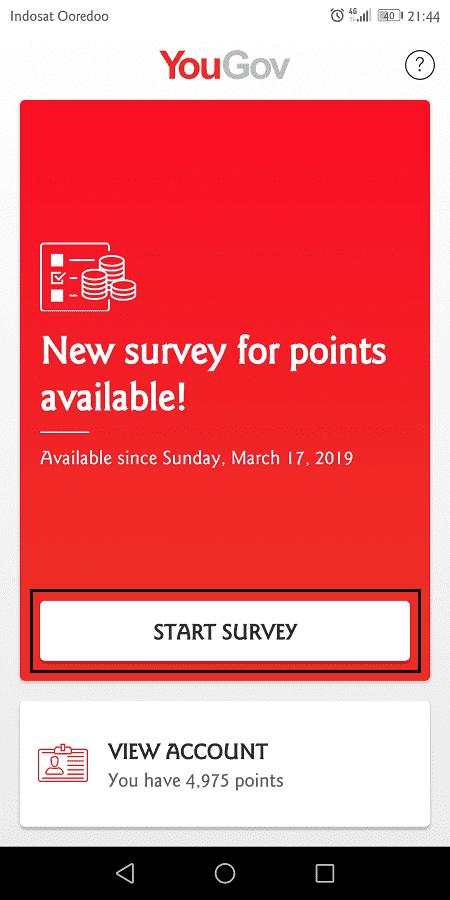 survey di yougov muncul 3 - 5 kali seminggu