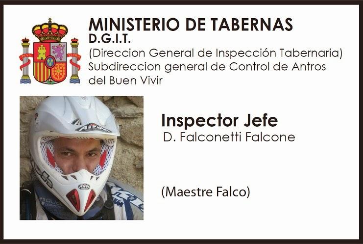 Inspecciones Tabernarias. El Inspector Jefe
