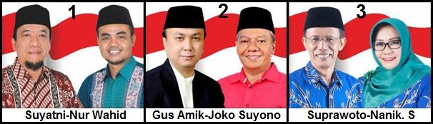Tiga pasang calon Bupati dan wakil Bupati Kabupaten Magetan 2018