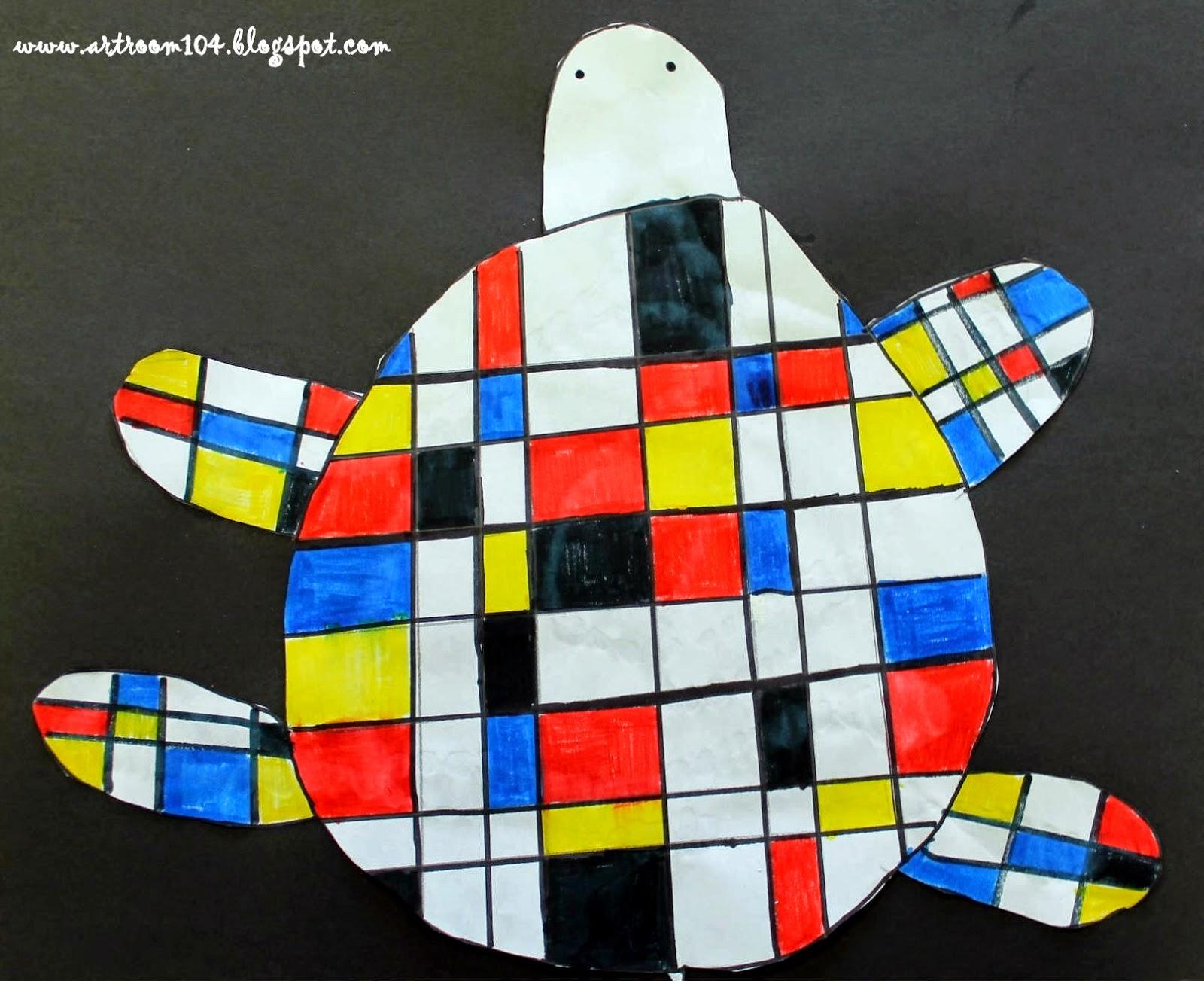 Art Room 104 3rd Grade Mondrian Unit Part 1