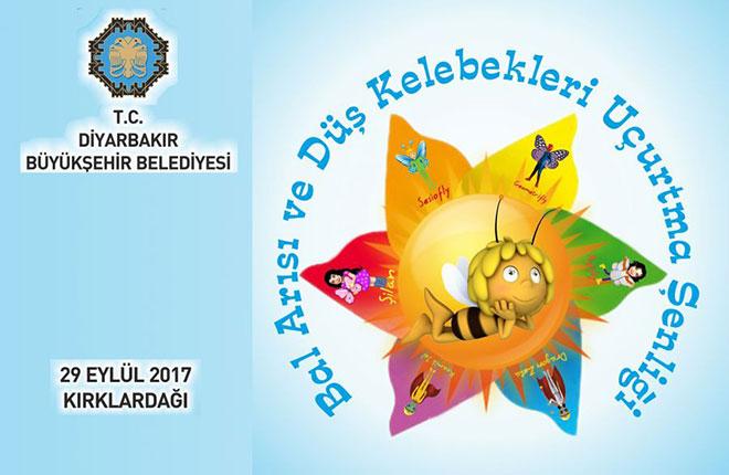 Diyarbakır Büyükşehir Belediyesinden bal arısı ve düş kelebekleri projesi