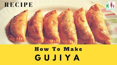 how to make gujiya recipe for holi festival indian sweet