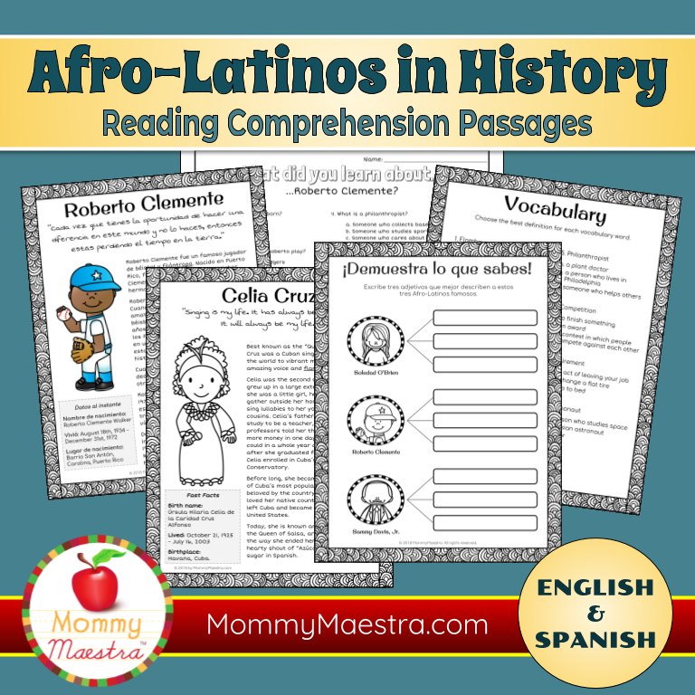 Mommy Maestra: Famous Afro-Latinos Reading Passages