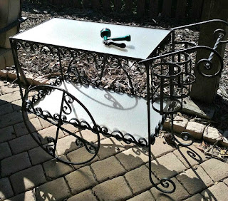 efore and after, tea cart, beverage station, outdoors, makeover, DIY, Turquoise Tea Cart, Beverage Station