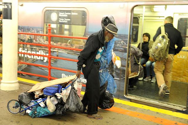 New York homeless (evsiz) insanlar