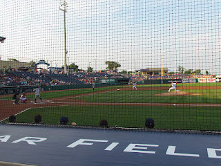First pitch, Yankees vs. Spikes