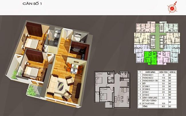 căn hộ 01 chung cư ct number one