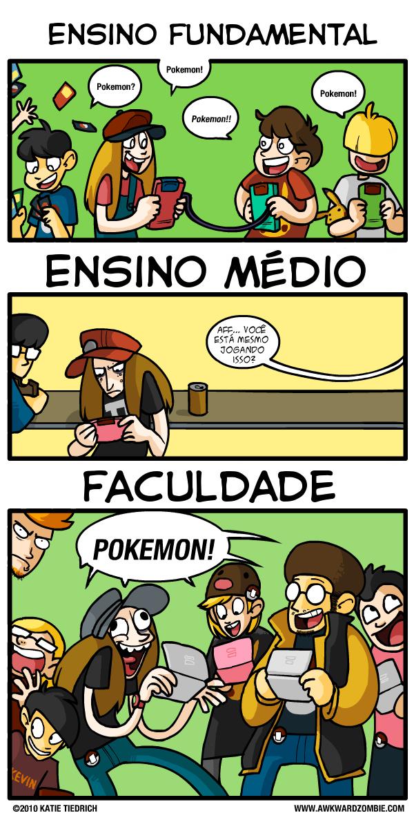 Tirinha sobre Pokémon