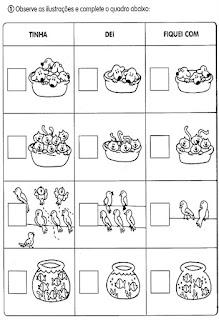 Cálculos matemáticos alfabetização