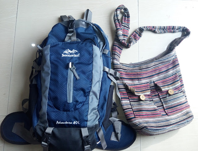 bags while travelling