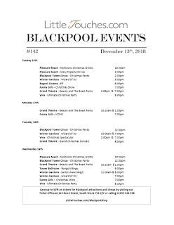 Blackpool Shows and Events December 14 to December 20 - PDF What's On listings print-off