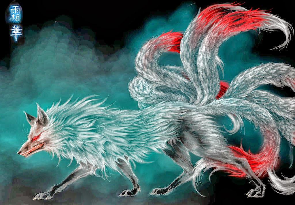 DragonsFaeriesElves&theUnseen : Nine Tailed Fox Japanese