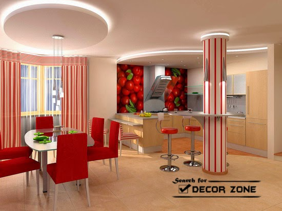 Round False Ceiling Designs With Hidden Lighting For Dining Room