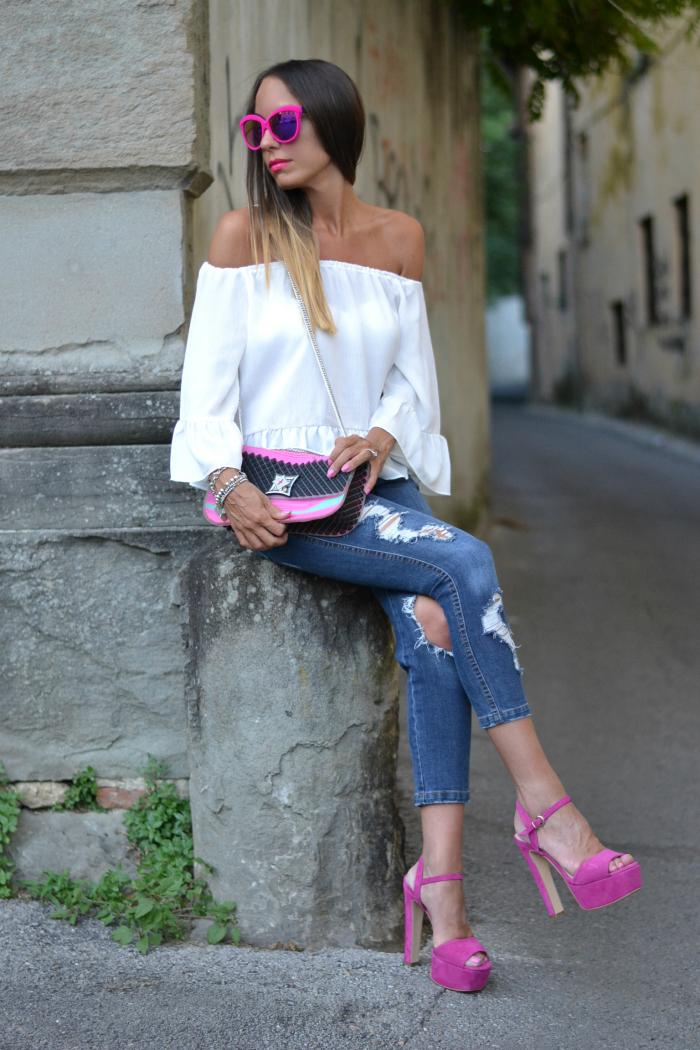 come abbinare scarpe rosa