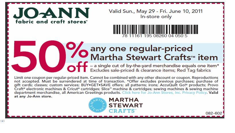 Joann fabrics printable coupons 50 off in store 2018