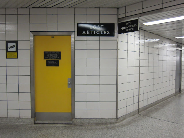 The TTC's Lost Articles Office, located inside Bay subway station