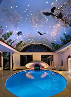 indoor pool artistic roof