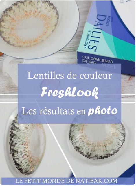 lentilles de contact colorées Freshlook