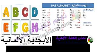 الحروف الالمانية للاطفال - باللفظ و الصور بطريقة ممتعة - تعلم اللغة الالمانية - Alphabet